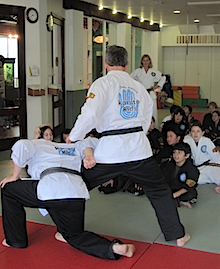 Sensei Ando at Dawn Barnes Karate Kids